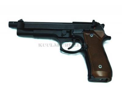 Airsoftase WE W92L STYLE BLOWBACK GAS GUN BLACK