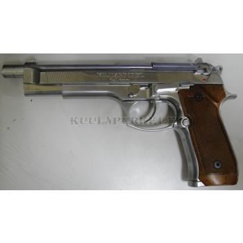 Airsoftase WE W92L STYLE BLOWBACK GAS GUN SILVER