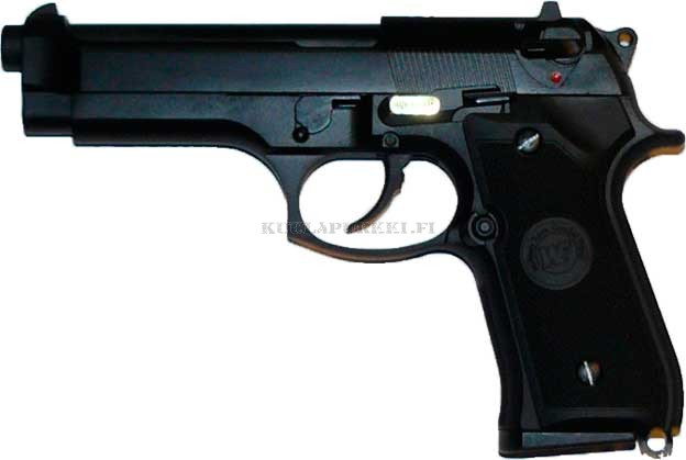 Airsoftase WE W92S - Black - Full Metal Blow Back