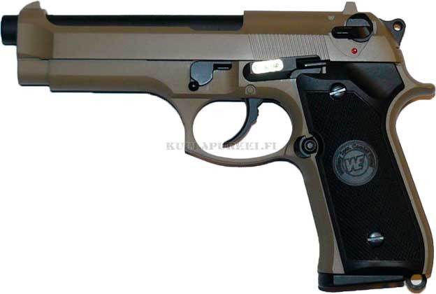 Airsoftase WE W92S - Tan - Full Metal Blow Back