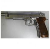 WE W92L STYLE BLOWBACK GAS GUN SILVER